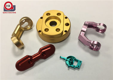CNC Hard Aluminium Machined Components Colorful With Polished Surface