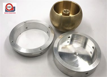 Precision Metal Parts Machined Brass Parts / Mechanical Components Bases